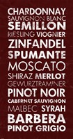 Wine List III Framed Print