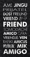 Friend in Different Languages Fine Art Print