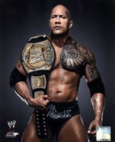 The Rock with the WWE Championship Belt 2013 Posed Fine Art Print