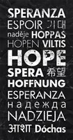 Hope in Different Languages Fine Art Print