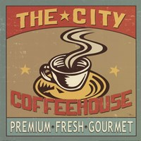 Coffeehouse I Framed Print