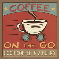 Coffeehouse III Framed Print