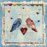 Love Birds Square Fine Art Print
