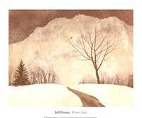 Winter Path Fine Art Print
