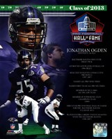 Jonathan Ogden NFL Hall Of Fame Class Of 2013 Fine Art Print