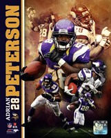 Adrian Peterson 2013 Portrait Plus Framed Print