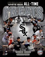 Chicago White Sox All Time Greats Composite Framed Print