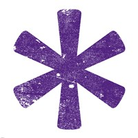 Purple Asterisk Fine Art Print