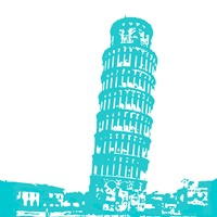 Pisa in Aqua Fine Art Print