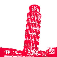 Pisa in Red Fine Art Print