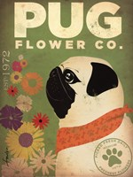Pug Flower Co. Fine Art Print