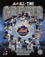 New York Mets All Time Greats Composite Fine Art Print