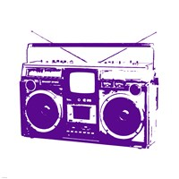 Purple Boom Box Framed Print