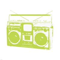 Lime Boom Box Fine Art Print