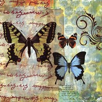 Homespun Butterfly I Fine Art Print