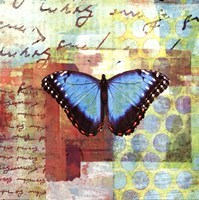 Homespun Butterfly III Fine Art Print