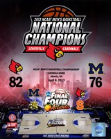 University of Louisville Cardinals 2013 NCAA Men's College Basketball National Champions Composite Fine Art Print