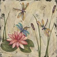 Dancing Dragonflies II Fine Art Print