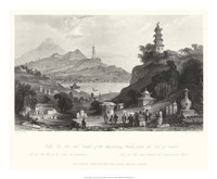 Temple, at Lake Lee-Hoo Framed Print