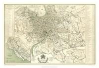 Landmarks of Rome Fine Art Print