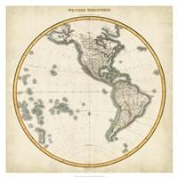 1812 Western Hemisphere Fine Art Print