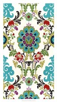 Jewel-tone Damask VI Framed Print