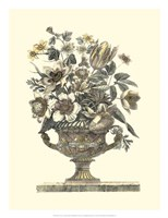 Flowers in an Urn I (Sepia) Fine Art Print