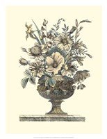 Flowers in an Urn II (Sepia) Fine Art Print