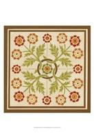 Floral Folk Tile I Framed Print