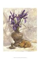 Purple Iris & Pear Fine Art Print