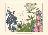 Small Japanese Flower Garden III Fine Art Print