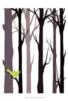 Forest Silhouette I Framed Print