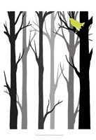 Forest Silhouette II Fine Art Print