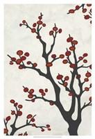 Red Berry Branch II Framed Print