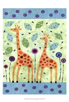 Giraffe Pair Framed Print