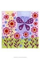 Butterfly Meadow Framed Print