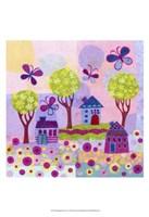 Springtime Houses Framed Print