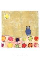 Feathers, Dots & Stripes III Fine Art Print