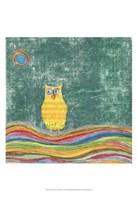 Feathers, Dots & Stripes V Fine Art Print