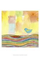Feathers, Dots & Stripes IX Fine Art Print