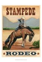 Stampede Rodeo Fine Art Print