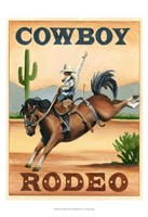 Cowboy Rodeo Fine Art Print