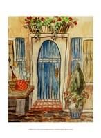 Greek Cafe I Fine Art Print
