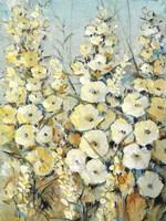 Cluster of Hollyhock I Fine Art Print