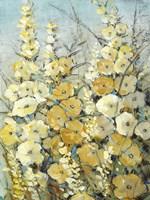 Cluster of Hollyhock II Fine Art Print