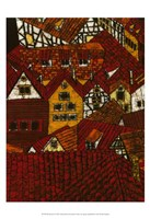 Red Roofs I Fine Art Print