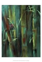 Turquoise Bamboo I Fine Art Print