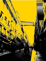 City Street on Yellow Fine Art Print