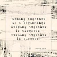 Coming Together Framed Print
