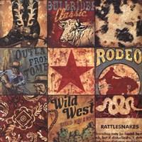 Cowboy Collage Fine Art Print